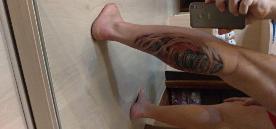 Забег на 15км после сеанса татуировки